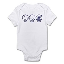 Eat Sleep Kayak Infant Bodysuit