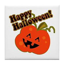 Funny Halloween Pumpkin Tile Coaster