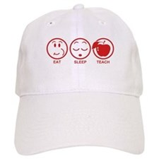 Eat Sleep Teach Baseball Cap