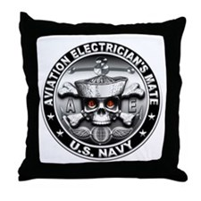 USN Aviation Electricians Mat Throw Pillow