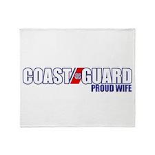 USCG Wife Throw Blanket