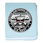 USN Aviation Electronics Tech baby blanket