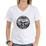 USN Aviation Electronics Tech Women's V-Neck T-Shi