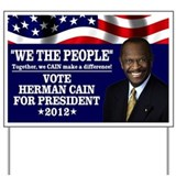 Herman Cain Yard Sign