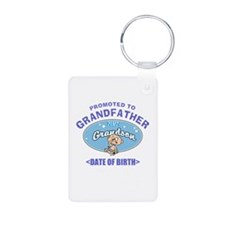 Personalized New Grandfather Grandson Keychains