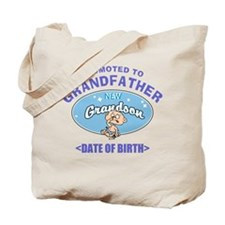 Personalized New Grandfather Grandson Tote Bag
