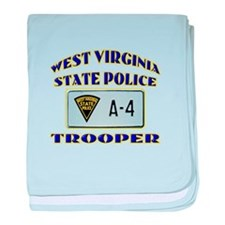 West Virginia State Police baby blanket