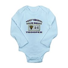 West Virginia State Police Long Sleeve Infant Body