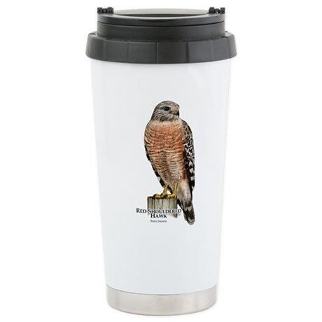 Red-Shouldered Hawk Ceramic Travel Mug