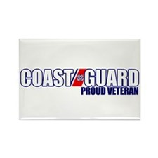 USCG Veteran Rectangle Magnet
