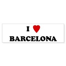 I Love Barcelona Bumper Bumper Sticker