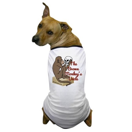 Brown Monkey's Uncle Dog T-Shirt