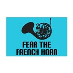 Fear The French Horn Mini Poster Music Print