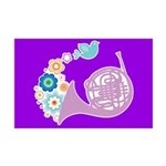 French Horn Music Mini Poster Print