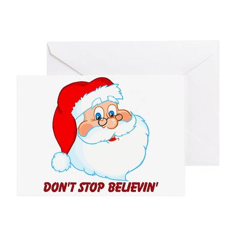Believe in Santa Claus Greeting Card