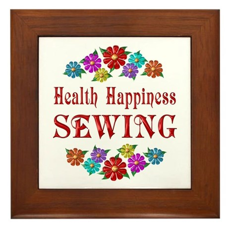 Sewing Happiness Framed Tile