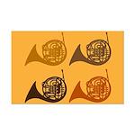 Horn Quartet Music Mini Poster Print