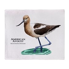 American Avocet Throw Blanket