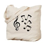 G-clef with Musical NOTES IV Tote Bag