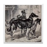 Library Borzoi Tile Coaster