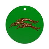 Green Leaping Zoi Ornament