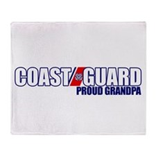 USCG Grandpa Throw Blanket