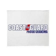 USCG Grandma Throw Blanket