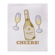 Cheers Champagne Throw Blanket