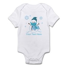 Cute Personalized Snowman Infant Bodysuit