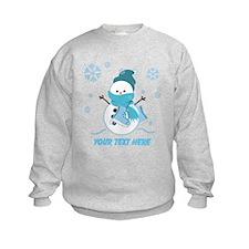 Cute Personalized Snowman Sweatshirt