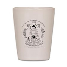 Medicine Buddha BW Shot Glass
