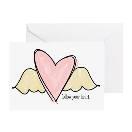 follow your heart Greeting Cards (Pk of 10)