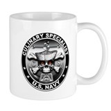 USN Culinary Specialist Skull Mug