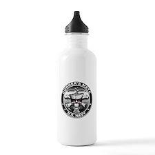 USN Gunners Mate Skull Water Bottle