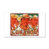 Cubanos Cigar Label Car Magnet 20 x 12