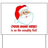 Personalized Naughty List Yard Sign