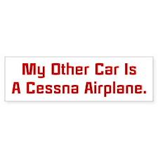 My Other Car Is A Cessna Bumper Bumper Sticker
