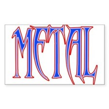 Metal (red white and blue) Decal