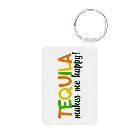 Tequila Aluminum Photo Keychain
