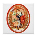 Romeo & Juliet Cigar Label Tile Coaster