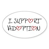 I Support Adoption Oval Decal