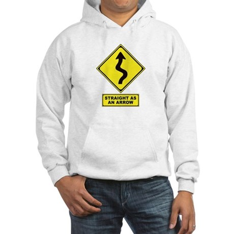 An Arrow Hooded Sweatshirt