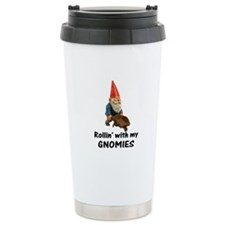 Rollin' With Gnomies Ceramic Travel Mug