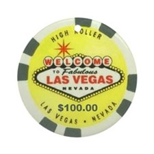Las Vegas Sign Logo Ornament (Round)