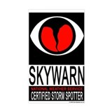 "SkyWARN ""Certified Storm Spotter"" Window"