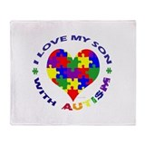Cute Autism Throw Blanket
