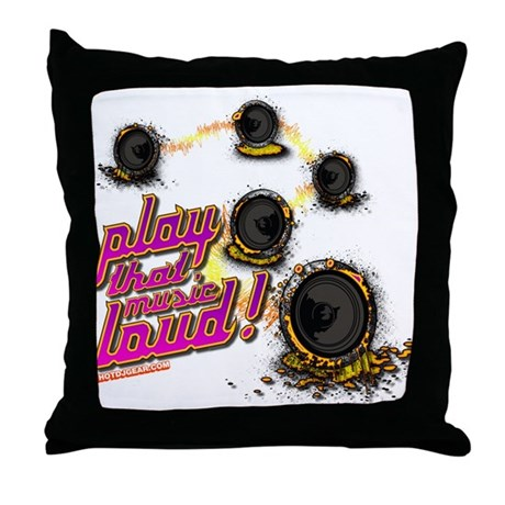 Play That Music Loud Throw Pillow