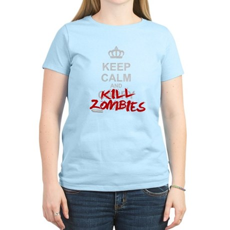 Keep Calm And Kill Zombies Women's Light T-Shirt