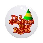 Ninny Muggins Ornament (Round)
