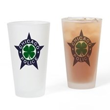 Chicago Police Irish Badge Drinking Glass